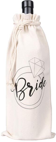 'Bride' Canvas Wine Bag