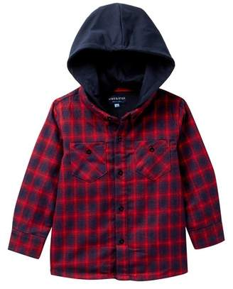 Andy & Evan Red Hooded Flannel Button Down Shirt (Toddler & Little Boys)