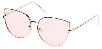 Metal Oversize Cat Eye Sunglasses $6.99 thestylecure.com