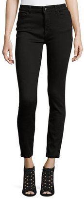 DL 1961 Farrow Instaslim High-Rise Skinny Ankle Jeans, Hail $178 thestylecure.com
