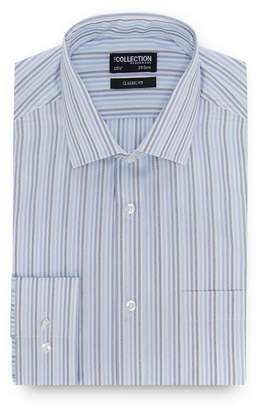 The Collection - Blue Striped Long Sleeve Regular Fit Shirt