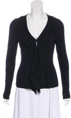 Armani Collezioni Virgin Wool-Blend Cardigan