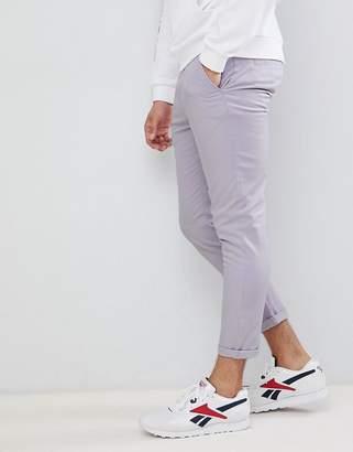 Asos Design DESIGN skinny cropped chinos in pastel purple