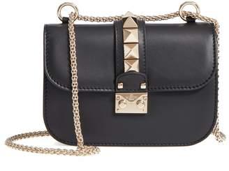 Valentino Small Lock Leather Crossbody Bag