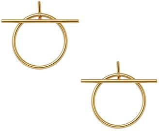 Rebecca Minkoff Women's Front Facing Ring And Bar Hoops