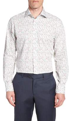 Eton Contemporary Fit Print Dress Shirt