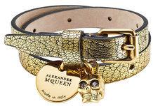 Alexander McQueenAlexander McQueen Double Wrap Leather Bracelet with Charms