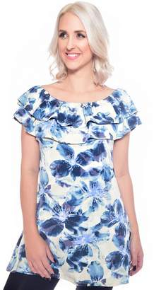Grace Blue Off Shoulder Tunic