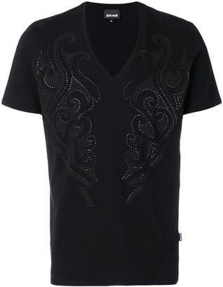 Just Cavalli crystal embellished T-shirt