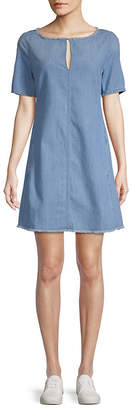 AG Adriano Goldschmied Adriano Goldschmeid Front Keyhole Denim Shift Dress