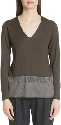Fabiana Filippi Beaded Fringe Wool Blend Sweater