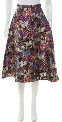 Valentino Silk Jacquard Skirt w/ Tags