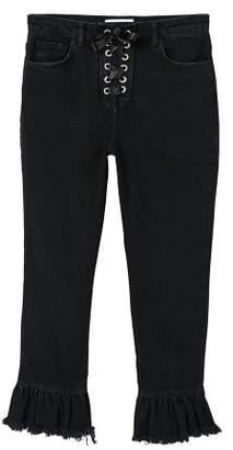 MANGO Peplum flare jeans