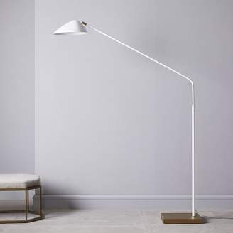 west elm Overarching Curvilinear Mid-Century Floor Lamp - White