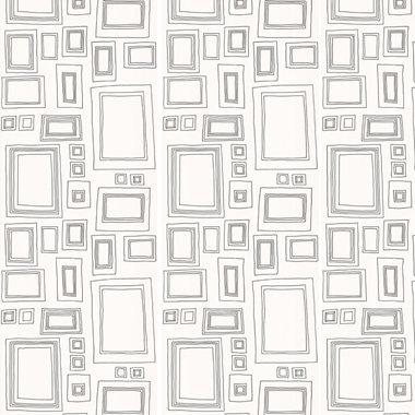 Graham & Brown Framed Black and White Wallpaper