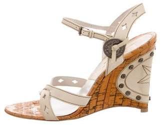 Christian Dior Embellished Wedge Sandals
