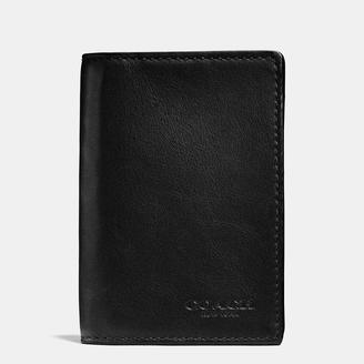 COACH Coach Bifold Card Case In Sport Calf Leather $95 thestylecure.com