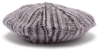 Acne Studios Wool Knit Beret - Womens - Grey