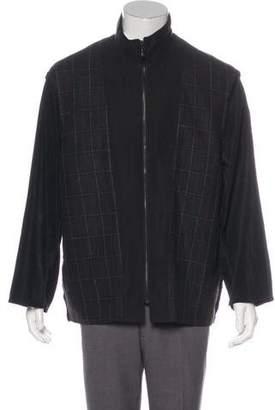 Giorgio Armani Wool Check Jacket