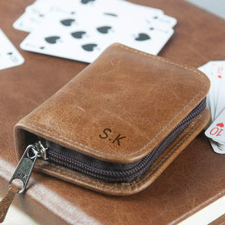 Oh So Cherished Personalised Leather Playing Card Case