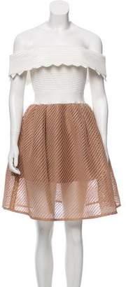 Self-Portrait Off-the-Shoulder Bardot Dress