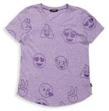 Girl's Emoji Burnout Tee