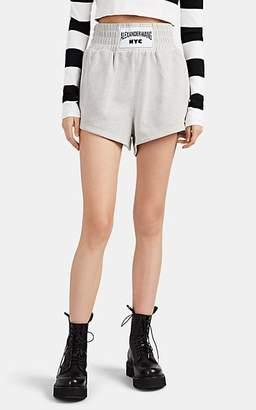Alexander Wang Women's Logo Cotton-Blend Terry Shorts - Gray
