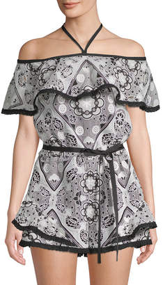 Alexis Embroidered Romper