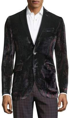 Etro Men's Velvet Paisley One-Button Jacket
