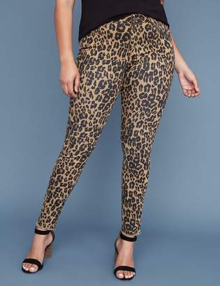 Lane Bryant Super Stretch Skinny Jean - Leopard Print