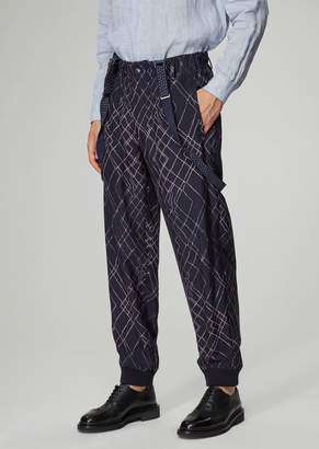 Giorgio Armani Printed And Garment-Tumbled Oversized Pants