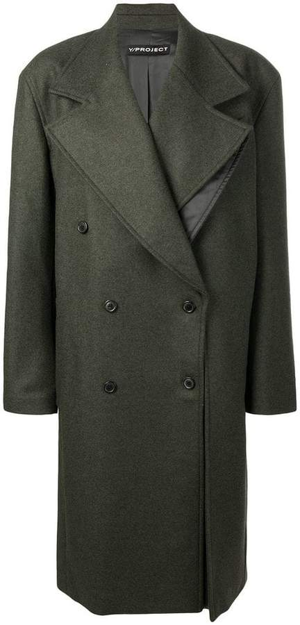 Y / Project oversized double-breasted coat