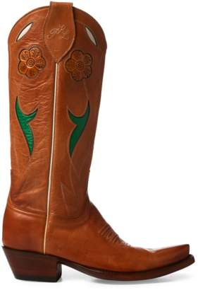 Polo Ralph Lauren Selene Leather Cowboy Boot