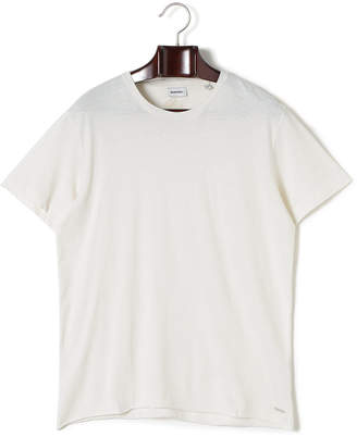Diesel (ディーゼル) - DIESEL ダメージ加工 クルーネック 半袖Tシャツ オフホワイト m