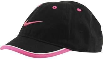 Nike Toddler Just Do It Sports Hat Adjustable Sun Cap (Black w/ Signature Pink Swoosh)