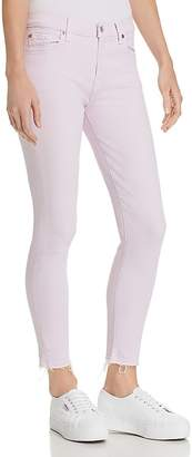 7 For All Mankind The Ankle Skinny Jeans in Pale Lavender