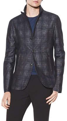 John Varvatos Men's Slim-Fit Convertible-Peak Soft Jacket