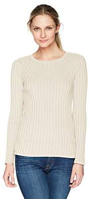Foxcroft Women's Mindy Lurex Rib Sweater