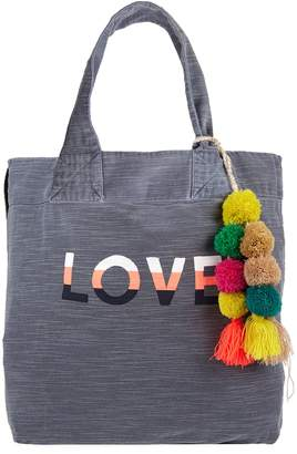 Sundry Pom Pom Love Tote Bag