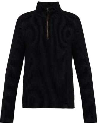 Iris von Arnim John Cashmere Half Zip Sweater - Mens - Navy