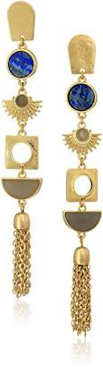 Danielle Nicole Mosi Gold Drop Earrings