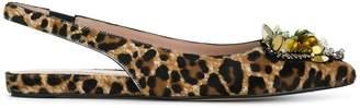 Alberto Gozzi embellished leopard print pumps