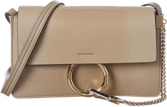 Chloé Faye Small Glossy Leather Shoulder Bag