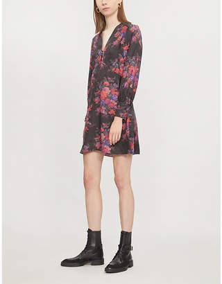 McQ Floral-print silk-satin dress
