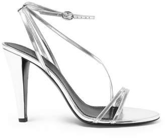 7216de1b254 Isabel Marant Arora Leather Stiletto Heels - Womens - Silver