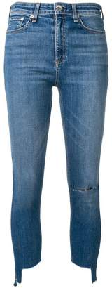 Rag & Bone ripped detail skinny jeans