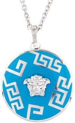 Versace Enamel Medusa Pendant Necklace