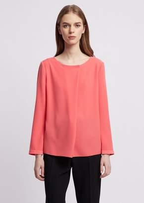 Emporio Armani Poly Blouse With Diagonal Fabric Flap