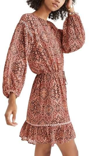 Madewell Drawstring Peasant Dress