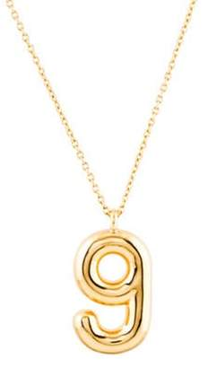 Marc Jacobs Bubbly 'G' Pendant Necklace Gold Bubbly 'G' Pendant Necklace